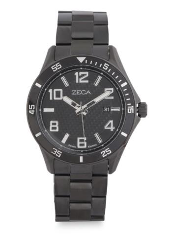 ZECA black Zeca Watches Men Fashion Stainless Steel Analog - 2014M Full Black ZE074AC0WDARID_1