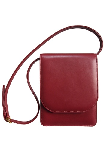 72 SMALLDIVE red 72 Smalldive Unisex Buffed Leather Neck-Shoulder Pouch Bordeaux 04826ACBA0B9B1GS_1