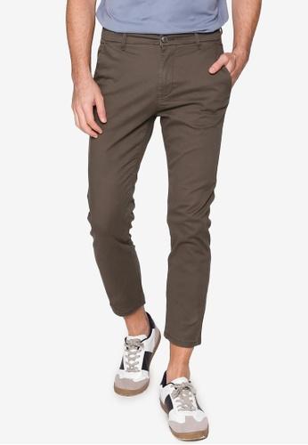 Burton Menswear London brown Dark Khaki Stretch Skinny Chino Pants B832FAA0536A13GS_1
