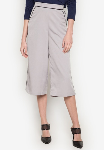 R.A.F. by Plains & Prints grey Zither Culottes Pants RA114AA0JZP4PH_1