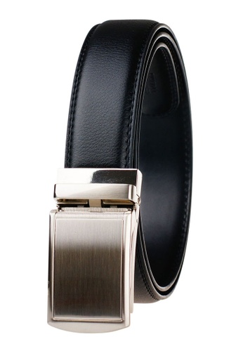 FANYU silver Leather Dress Belt With Automatic Buckle F222AACD4D133BGS_1