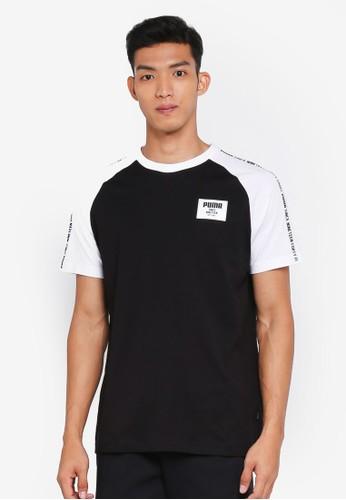 PUMA black Sportstyle Core Rebel Block Raglan Tee 0945AAA57188FDGS_1