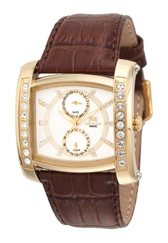 Roscani gold Roscani Wyatt 929 (Multifunction) Gold White Leather Men Watch 2A989AC67AAFEBGS_1