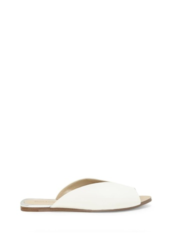 Enzo Angiolini white EN-ZOELLE Leather Peep Toe Sliders 224BDSH5FE4BF9GS_1