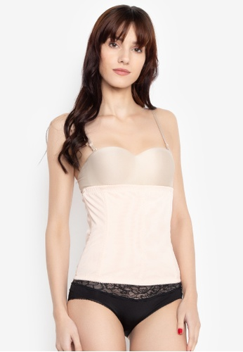Golden Ticket Super Savers beige Waist Trainer for Daily Use, Innerwear and Post Partum (Spandex Polyester Lace) 313F5US133C515GS_1