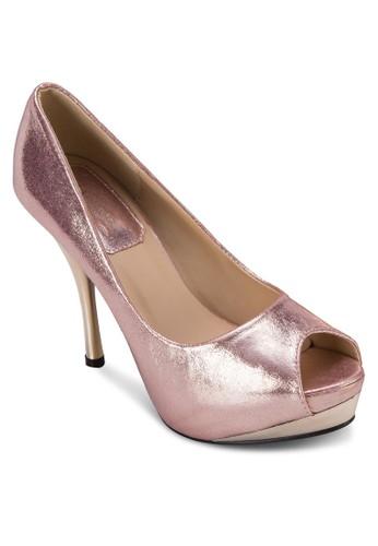 亮面魚口派對高跟鞋, zalora 內衣女鞋, 鞋