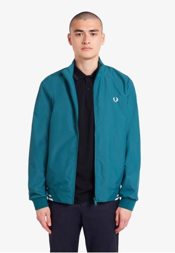 Fred Perry blue J100 - Brentham Jacket - (Light Petrol) B0F6DAAE29A3DAGS_1