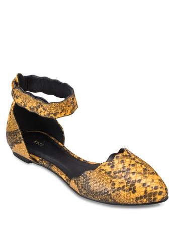 蛇皮紋尖頭平底鞋, 女鞋, 芭蕾平esprit outlet hk底鞋