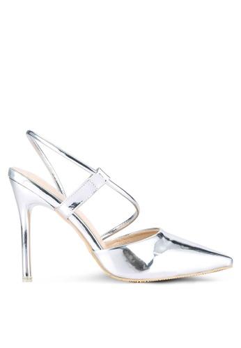 Something Borrowed silver Metallic Pointed Heels 672A6SHBF0CD3FGS_1