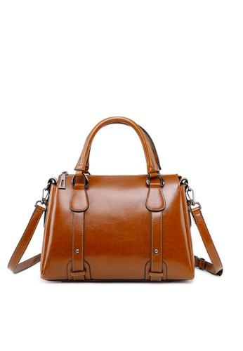 Twenty Eight Shoes brown VANSA Vintage Burnished Leather Hand Bag VBW-Hb2833 FCFDAAC53C8E74GS_1
