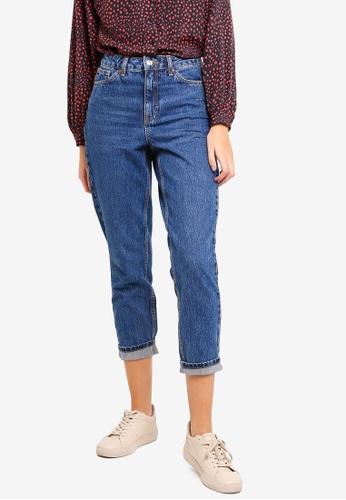 2fc7f68b80da Buy TOPSHOP Rich Blue Mom Jeans