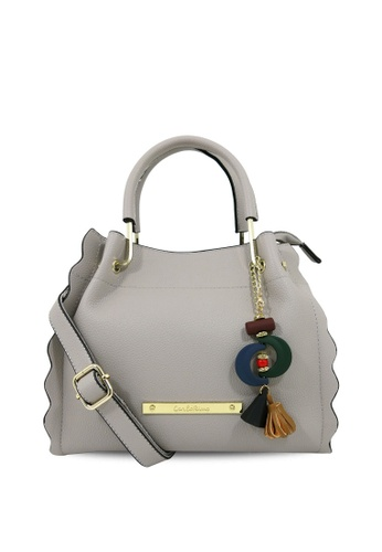 Carlo Rino grey Carlo Rino 0304224-001-51 Top-handle bag (Light Grey) 1A3EBAC5391B64GS_1