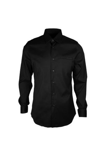 PRADA black Prada Pocket On Chest Stretch Shirt in Nero 16912AA028FF73GS_1