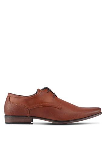 River Island brown Tan Perforated Formal Shoes RI009SH0SIUUMY_1