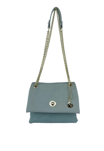 Mel&Co green Faux Leather Chain Sling Bag DDED8AC6EBE21FGS_1