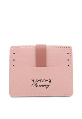 PLAYBOY BUNNY pink Tab Card Holder 7362DACC4E7EB4GS_1