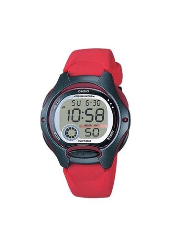Casio red Casio Kids Digital Watch (LW-200-4AV) 3690CKC3427021GS_1