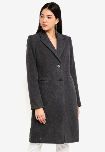 Vero Moda grey Blaza Long Wool Jacket D50DEAA7CAFCC1GS_1