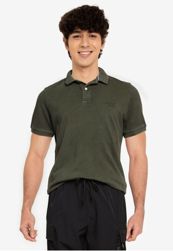 Superdry 綠色 Organic 棉 Vintage Destroy Polo 襯衫 D849EAA0069449GS_1