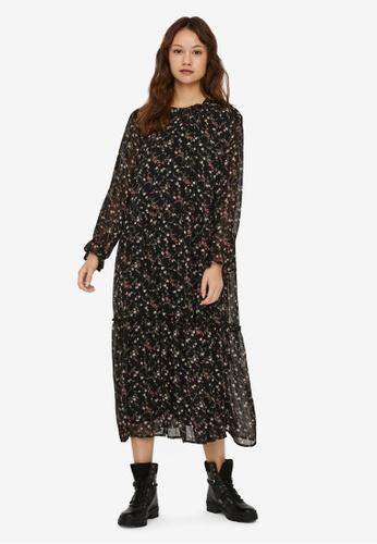 Vero Moda black Sylvia 7/8 Calf Dress 9D3E3AAE1111AEGS_1