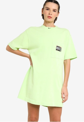 Nike green Women's Sportswear Washed Dress 2D755AA73BC825GS_1