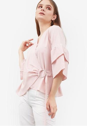 Berrybenka pink Hosana Blouse B16CBAA58406D5GS_1
