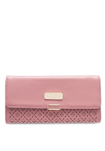 Unisa pink Laser Cut Bi-Fold Ladies Wallet 42C5BAC3D83DDBGS_1