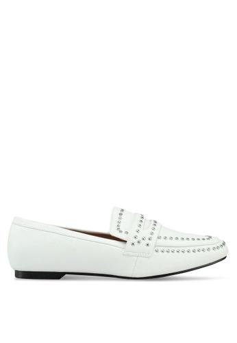 Glamorous 白色 鉚釘樂福鞋 80EBDSHD5533ADGS_1