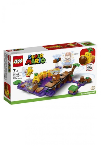 LEGO multi LEGO Super Mario 71383 Wiggler's Poison Swamp Expansion Set (374 Pieces) C0602TH9E30E22GS_1