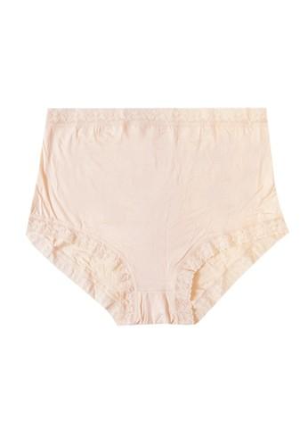 MOOIMOM beige MOOIMOM Lace High Waist Maternity Briefs Celana Dalam Hamil- Nude MO368US33QHQID_1