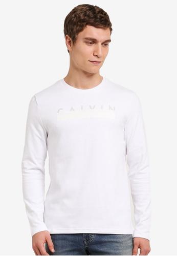 Calvin Klein 白色 Double Knit CK Logo Crew Neck Tee - Calvin Klein Jeans CA221AA0S9CEMY_1
