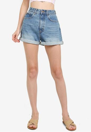 Cotton On blue High Mom Denim Shorts 86507AA299405CGS_1