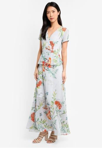 ZALORA white Raglan Sleeve Wrap Maxi Dress 118C5AA099B10AGS_1