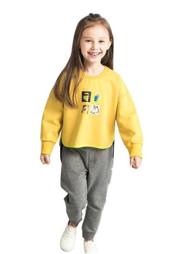 M.Latin yellow Graphic Printed Sweatshirt EA084KAB3814AAGS_1
