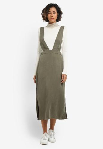 Mango green Detail Cotton-Blend Pinafore Dress MA193AA0RSAHMY_1