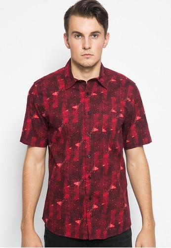 YEGE red YEGE Short Sleeve Print Shirt 0096 42A66AAF7D1FECGS_1