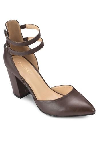 Mary Jane 雙踝帶包跟粗跟鞋、 女鞋、 鞋ZALORAMaryJane雙踝帶包跟粗跟鞋最新折價