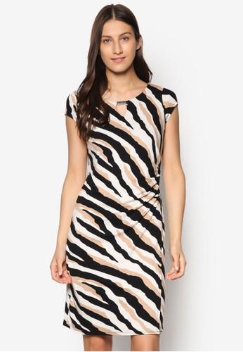 動物紋裹飾連身裙,esprit服飾 服飾, 洋裝