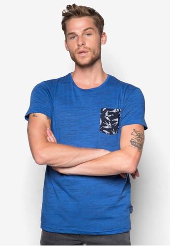 Blaine 燕子印esprit 錶花口袋T 恤, 服飾, 印圖T恤