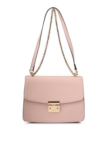Mango pink Flap Pebbled Bag 0A9D9AC7AFCB6FGS_1