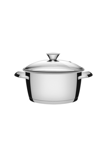 Tramontina silver Tramontina stainless steel casserole with triple-ply bottom 6FF1CHLAAE990FGS_1