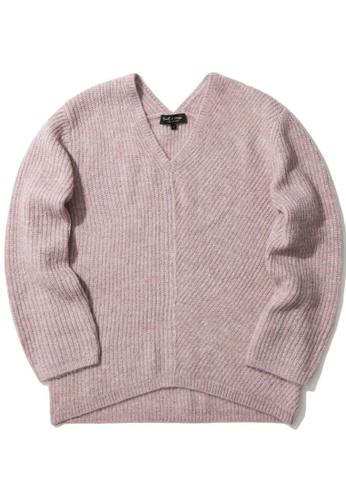 tout à coup purple Contrast knit sweater 05DDFAAC367FBCGS_1