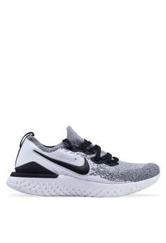 cheap for discount 1c661 7b2fc Nike white Nike Epic React Flyknit 2 Shoes A7B97SHCCDA3D1GS 1