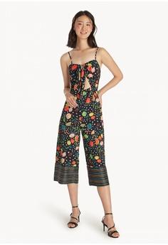 882c3081bb12 Pomelo black Artist Collab Tie Front Jumpsuit - Black 1CCF2AA6615D06GS 1