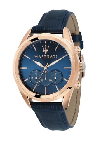 Maserati blue Maserati Traguardo Blue Leather Quartz Chronograph Watches R8871612015 B1583AC294AD72GS_1