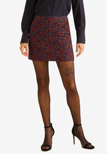 Mango red Printed Skirt 22EF1AA881B723GS_1