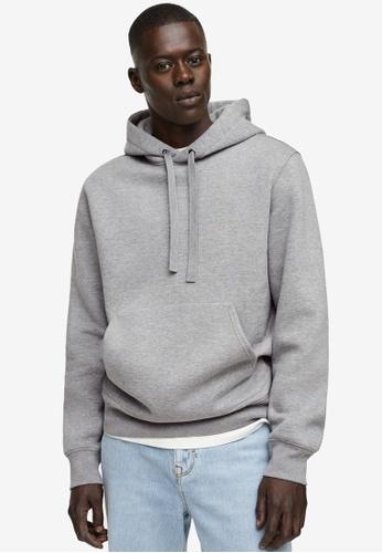 MANGO Man grey Hoodie Cotton Sweatshirt 28514AAADFBA18GS_1