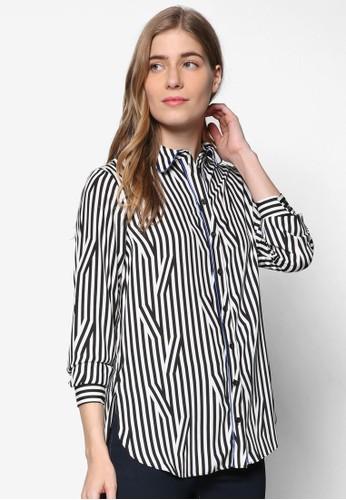 條紋長袖襯衫, 服飾esprit旗艦店, 上衣
