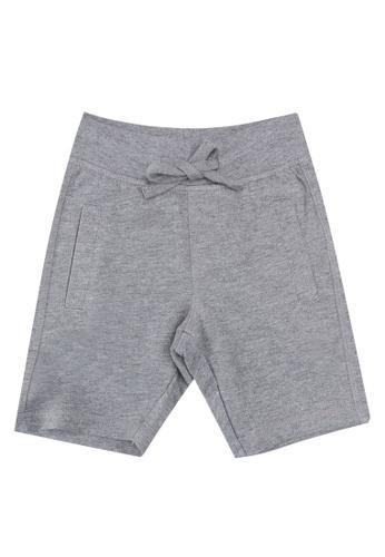 FOX Kids & Baby grey Plain Knit Shorts 5832DKA121A507GS_1