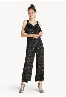 cc5f2d86823 Pomelo Puff Sleeves Button Down Polka Jumpsuit - Orange RM 205.00. Double V  Neck Ruffled Jumpsuit - Black 4D623AAF0055F0GS 1